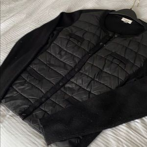 Antonelle Black Woo/ puff style front cardigan.
